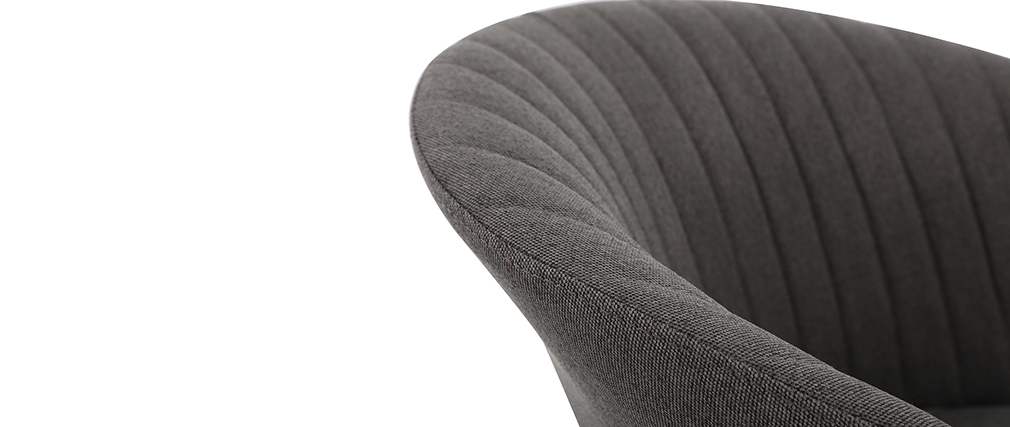 Silla tejido gris oscuro patas metal dorado REQUIEM