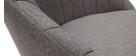 Silla tejido gris y metal negro IZAAC