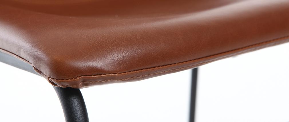 Silla vintage PU marrón claro NEW ROCK