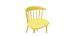 Sillas amarillas interior / exterior (lote de 2) HOLLY