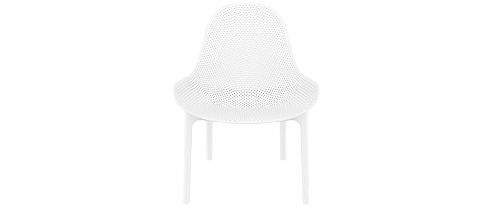 Sillas apilables blancas interior / exterio (lote de 4) OSKOL