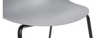 Sillas apilables modernas grises patas metal (lote de 2) CONCHA
