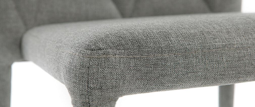 Sillas de diseño gris lote de 2 KARLA