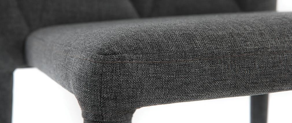 Sillas de diseño gris oscuro lote de 2 KARLA
