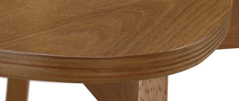 Sillas diseño roble LEENA (lote de 2)