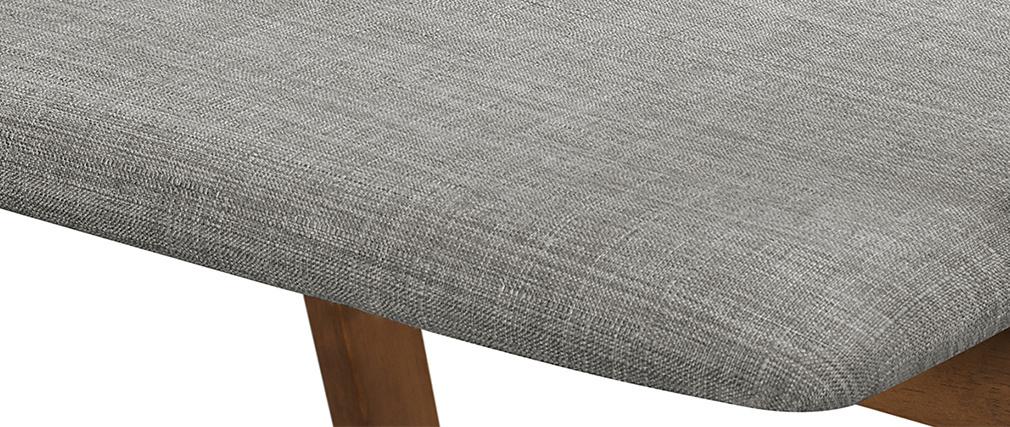 Sillas diseño vintage nogal y tejido gris lote de 2 DANA