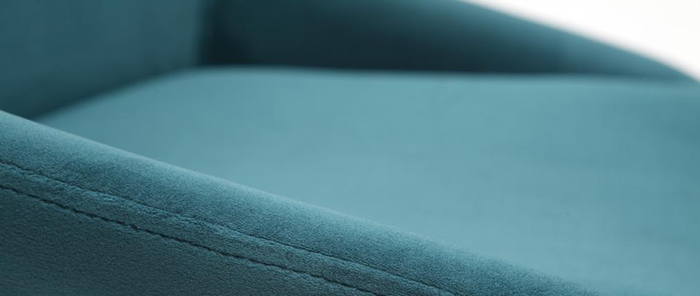 Sillas en terciopelo azul petróleo (lote de 2) HOLO