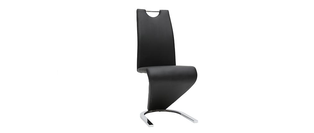 Sillas modernas color negro (lote de 2) ANGY