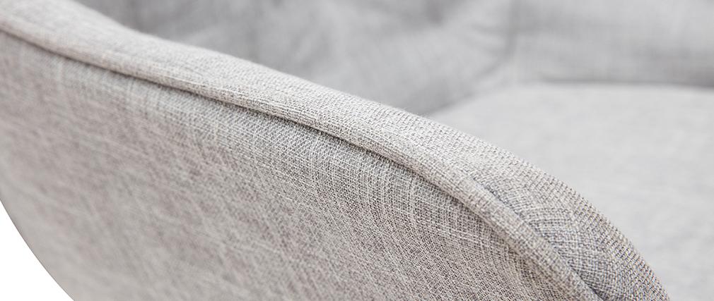 Sillas modernas en tejido gris claro y patas metal negro (lote de 2) BURTON