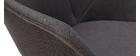 Sillas modernas en tejido gris oscuro y metal (lote de 2) TAYA