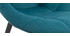 Sillas modernas en terciopelo azul petróleo y metal (lote de 2) COX