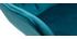 Sillas modernas en terciopelo azul petróleo y patas metal negro (lote de 2) BURTON