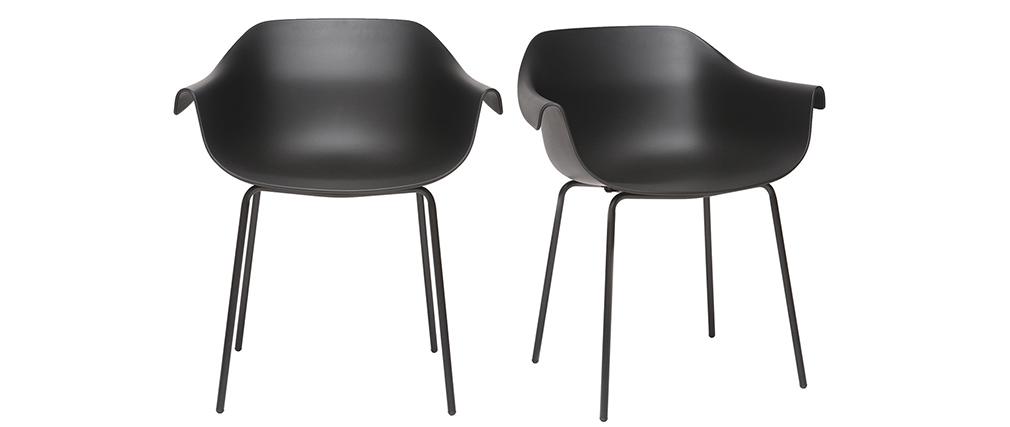 Sillas modernas negras (lote de 2) COUTURE