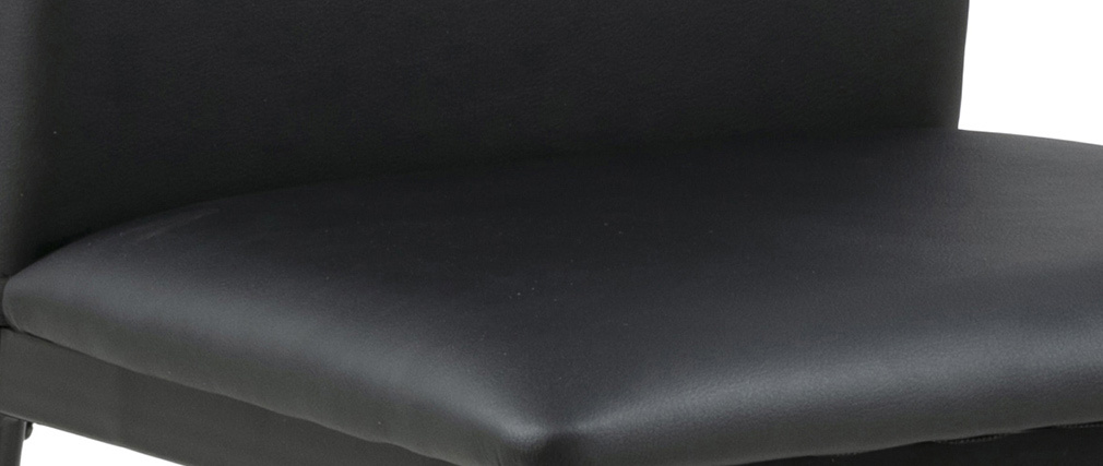 Sillas modernas negras (lote de 4) LUCKY
