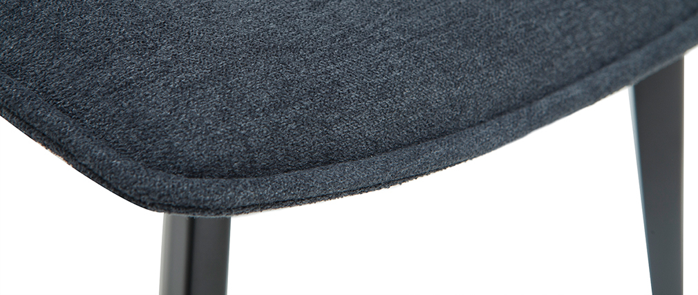 Sillas modernas tejido efecto terciopelo gris oscuro (lote de 2) PARKER