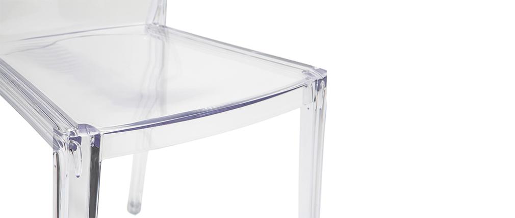 Sillas modernas transparentes lote de 2 ISLAND
