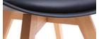 Sillas negras con patas madera clara (lote de 2) PAULINE