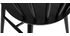Sillas negro mate (lote de 2) DARIA