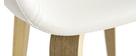 Sillas nórdicas blanco y madera (lote de 2) SLAM