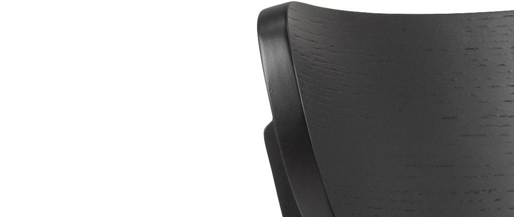 Sillas nórdicas madera negra (lote de 2) BAKI