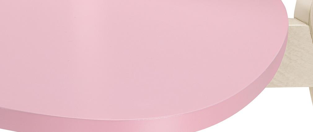 Sillas nórdicas rosas y madera clara (lote de 2) LEENA