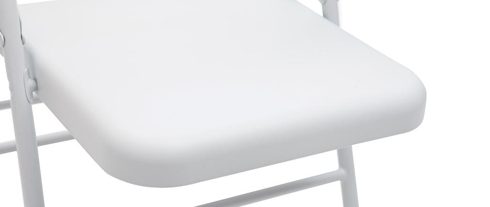 Sillas plegables blancas (lote de 2) ALI