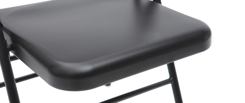 Sillas plegables negras (lote de 2) ALI
