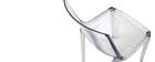 Sillas transparentes diseño lote de 2 YZEL