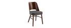 Sillas vintage madera oscura y asiento gris oscuro (lote de 2) EDITO