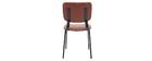 sillas vintage marrón claro con patas en metal (lote de 2) LAB