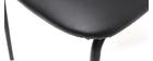 sillas vintage negras con patas en metal (lote de 2) LAB