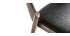 Sillas vintage nogal y negro (lote de 2) AVALON