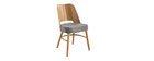 Sillas vintage roble y asiento gris jaspeado (lote de 2) EDITO