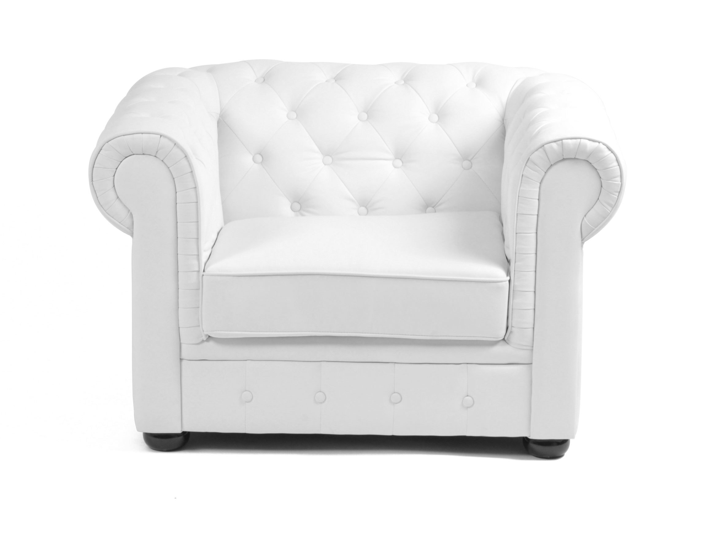 Sillón CHESTERFIELD color blanco
