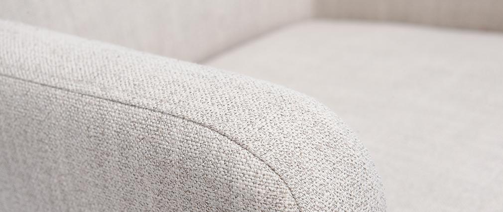 Sillón clásico tejido natural patas madera clara RODIN