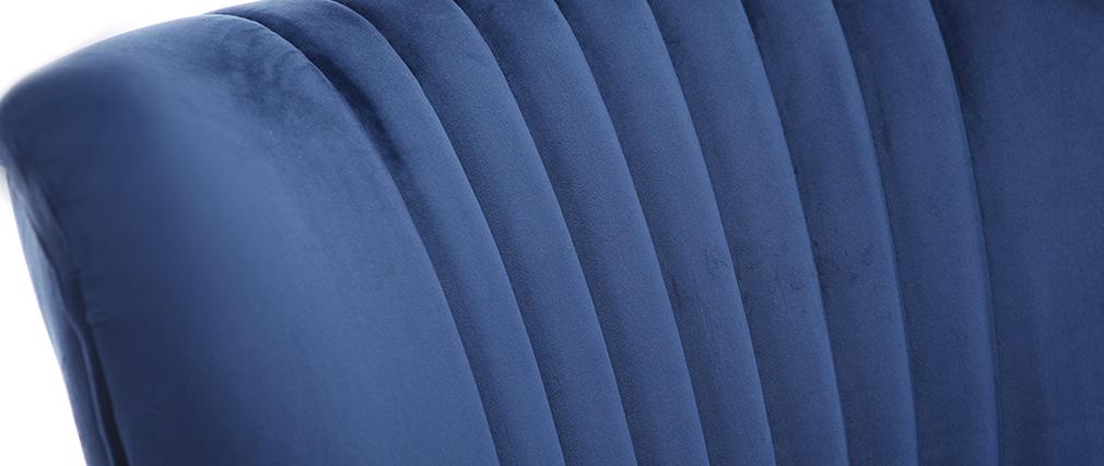 Sillón clásico terciopelo azul oscuro ZOLA