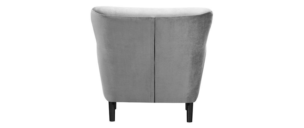Sillón clásico terciopelo gris MAYFAIR