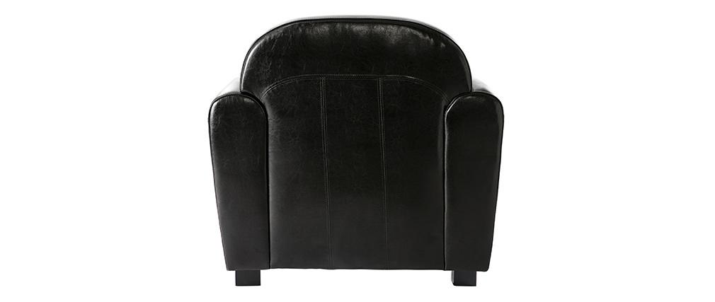 Sillón CLUB color negro de cuero de vaca