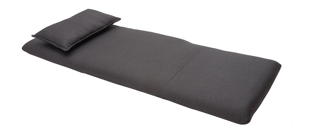 Sillón convertible diseño gris antracita SLEEPER