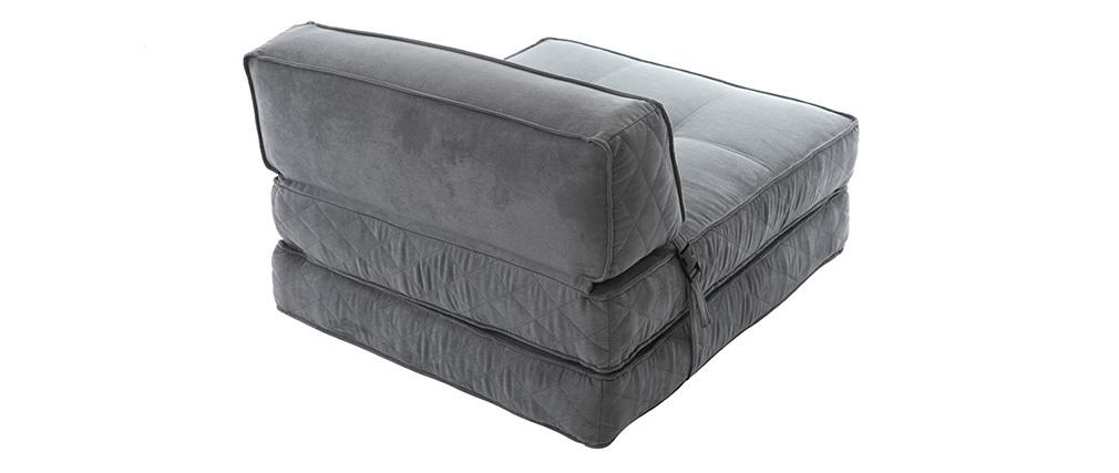 Sillón convertible diseño gris KATY