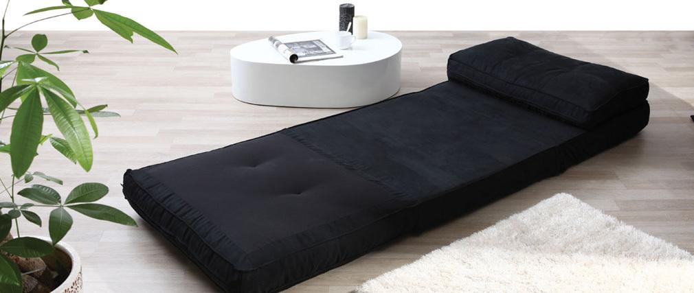 Sillón convertible diseño negro SALLY