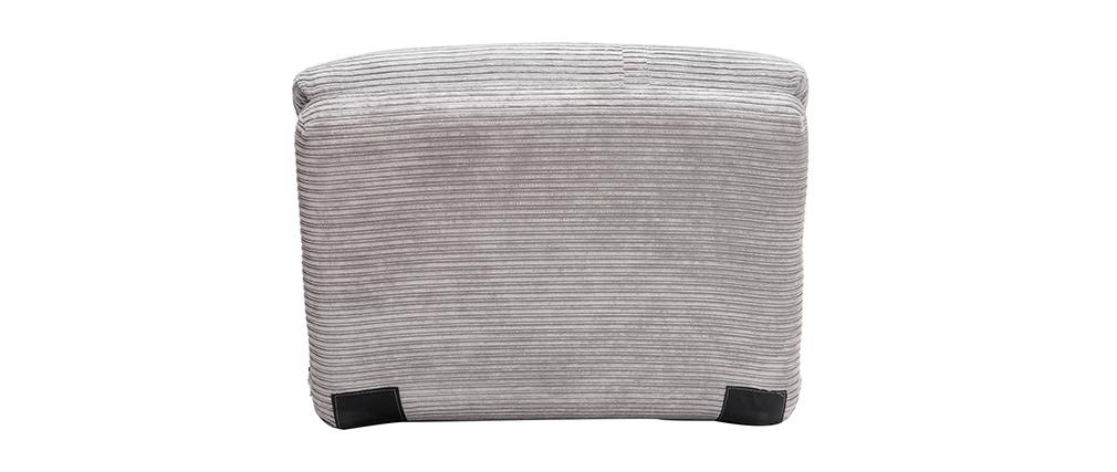 Sillón convertible en terciopelo acanalado gris claro SPENCER