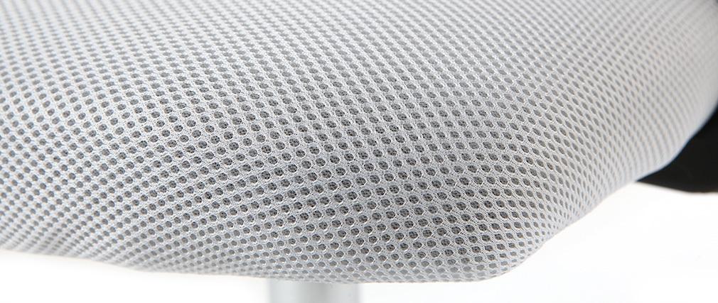 Sillón de despacho diseño malla blanca PLUZ