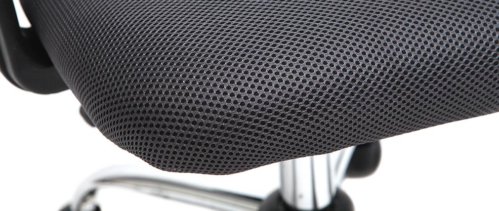 Sillón de despacho diseño malla gris PLUZ