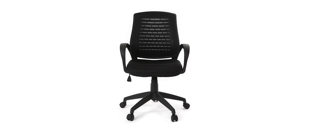 Sillón de despacho diseño malla negra - JUNIO