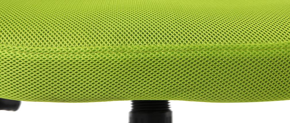 Sillón de despacho diseño malla verde- JUNIO