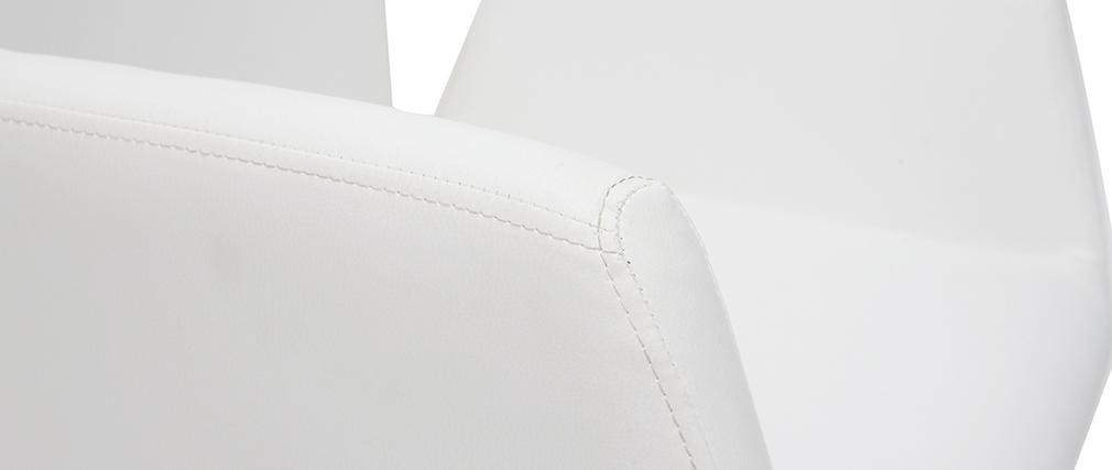 Sillón de despacho diseño PU blanco ARIEL