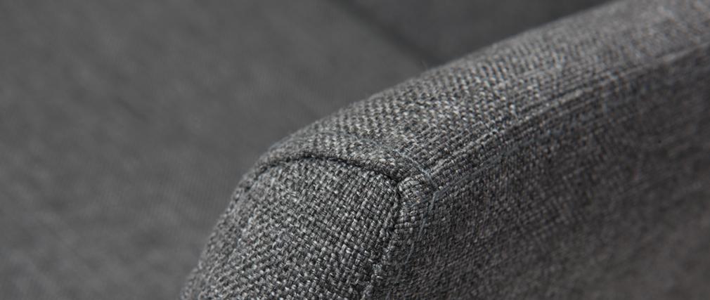 Sillón de despacho diseño tela gris ARIEL