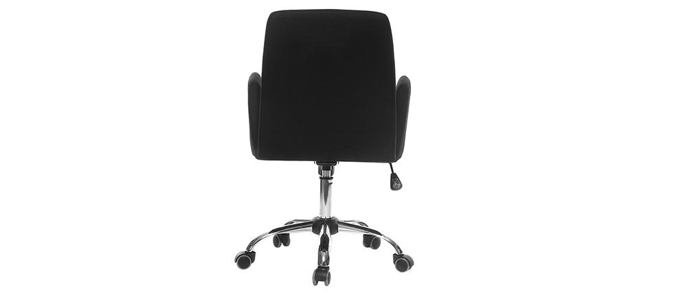 Sillón de despacho diseño tela negra ARIEL