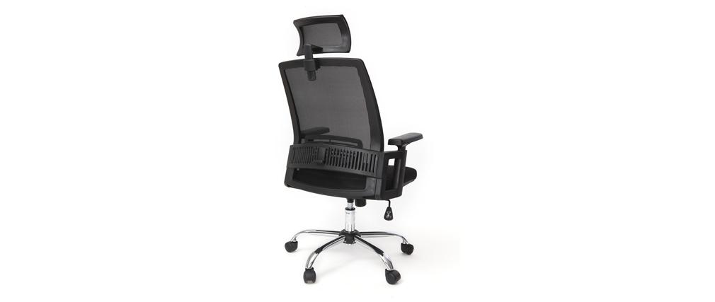 Sillón de despacho ergonómico diseño negro - TITAN